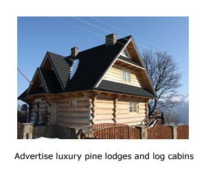 advertise luxurious 5 star pine lodges and log cabins