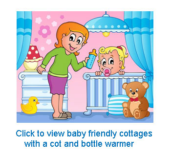 Baby friendly cottages with a bottle warmer
