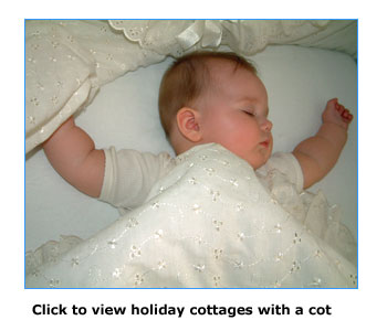 holiday cottages with a cot