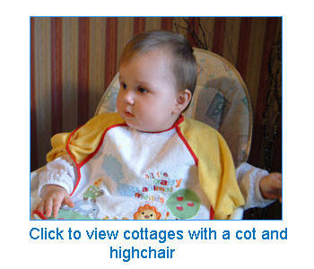 holiday cottages with a cot and high chair
