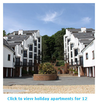 holiday apartments for 12
