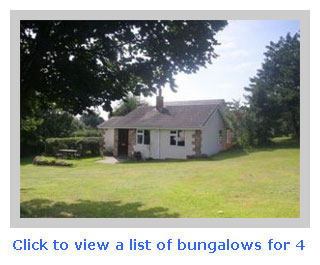 bungalows for 4 to rent for family holidays