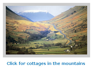 self catering cottage holidays in the mountains to rent for family holidays
