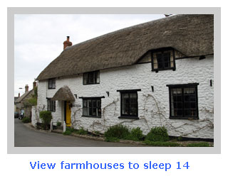 self catering farmhouse for large family groups of 14
