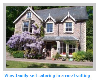 family self catering holidays in a rural setting
