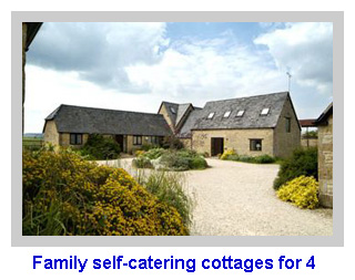 Family self-catering cottages for 4