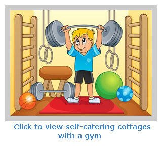 Self-catering accommodation with a gym for guests