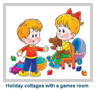 self catering family cottages with a games room