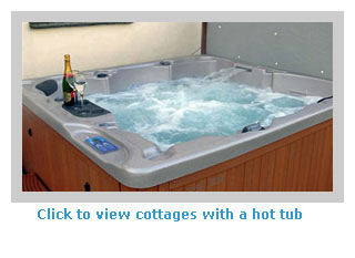 Self-catering cottages with a hot tub