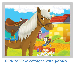 Holiday cottages with horse riding and ponies