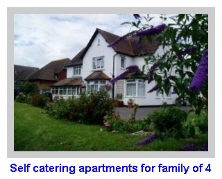 a collection of self catering apartments for family of 4
