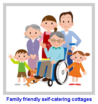 Family friendly self-catering cottages sleep 16